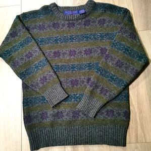 Funky Stripe Vintage Wm. H. Leishman Wool Sweater